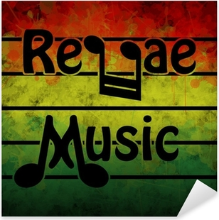 Reggae Music Pixerstick Sticker