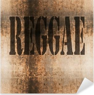 reggae word music abstract grunge background Pixerstick Sticker