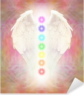 Reiki Angel Wings and Seven Chakras Pixerstick Sticker