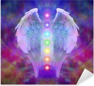 Reiki Angel Wings and Seven Chakras Pixerstick Sticker