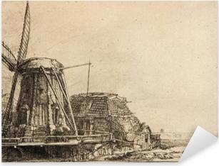 Pixerstick Sticker Rembrandt van Rijn - De molen