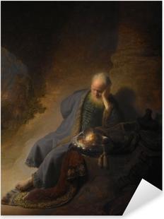 Pixerstick Sticker Rembrandt van Rijn - Jeremia treurend over de verwoesting van Jeruzalem