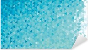 Sticker Pixerstick Résumé bannière géométrique.