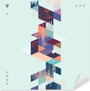 Sticker Pixerstick Résumé fond géométrique moderne