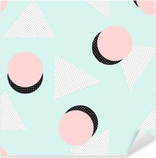 Retro Geometric Pattern Pixerstick Sticker