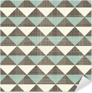 retro geometric triangles seamless pattern Pixerstick Sticker