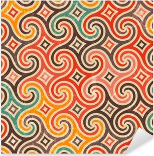 Retro pattern with swirls. Pixerstick Sticker