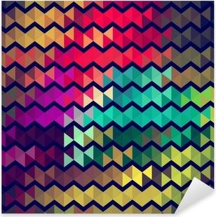 Sticker Pixerstick Rétro peinture de style art de zigzag