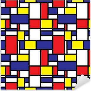 Retro Seamless Grid Pattern Pixerstick Sticker