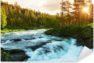 River in Norway Pixerstick Sticker