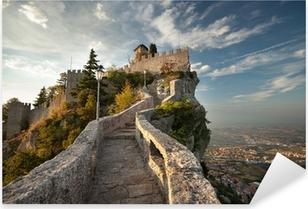 Rocca della Guaita, Castle in San Marino Pixerstick Sticker