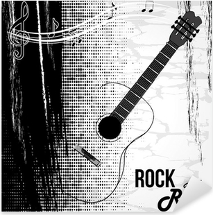rock and roll design Pixerstick Sticker