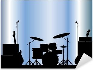 Rock Band Equipment Pixerstick Sticker