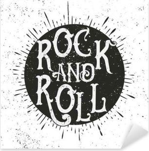 Rock music print Pixerstick Sticker