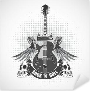 Rock n roll symbol Pixerstick Sticker