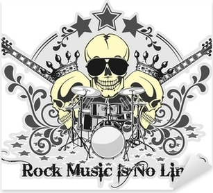 Sticker Pixerstick Rock n roll symbole 4