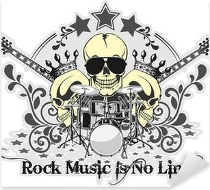 Pixerstick Sticker Rock n roll symbool 4