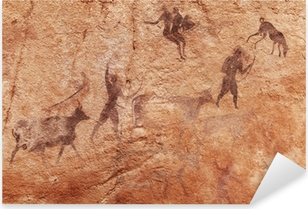 Rock paintings of Tassili N'Ajjer, Algeria Pixerstick Sticker