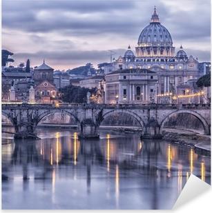 Sticker Pixerstick Rome et le Tibre au crépuscule