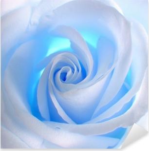 Sticker Pixerstick Rose bleue