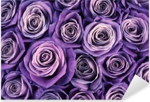 Rose flowers background Pixerstick Sticker