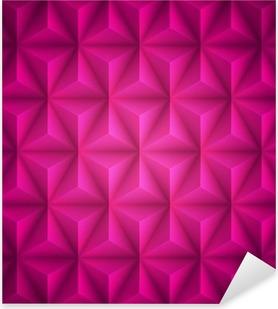 Sticker Pixerstick Rose géométrique abstraite low-poly fond de papier. Vecteur