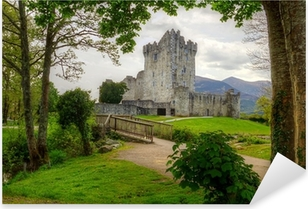 Pixerstick Sticker Ross Castle dichtbij Killarney, Co Kerry Ierland