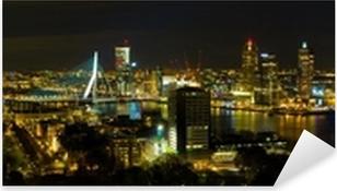 Pixerstick Sticker Rotterdam bij nacht