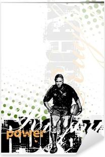 Pixerstick Sticker Rugby achtergrond 2