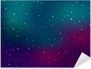 Pixerstick Sticker Ruimte achtergrond met sterren en patches van het licht. Abstracte astronomische galaxie illustratie.