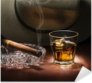 Rum and cigar Pixerstick Sticker