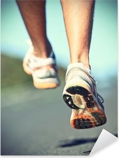 Sticker Pixerstick Runnning chaussures sur le coureur