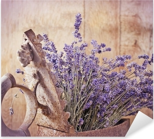 Rustic iron (old irin) and dry lavender Pixerstick Sticker