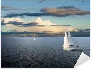 Sail boat Pixerstick Sticker