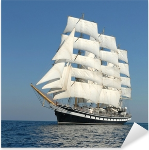 Sailing ship. series of ships and yachts Pixerstick Sticker