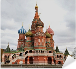 Saint Basil's Cathedral, Moscow, Russia. Pixerstick Sticker