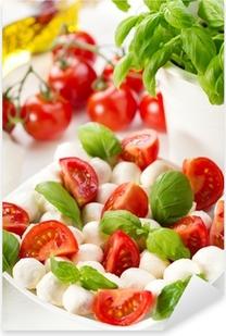 Sticker Pixerstick Salade tomates et de mozzarella