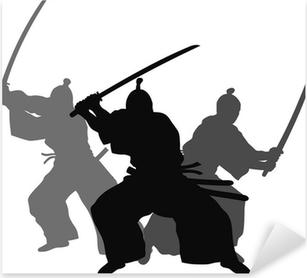 Sticker Pixerstick Samourais