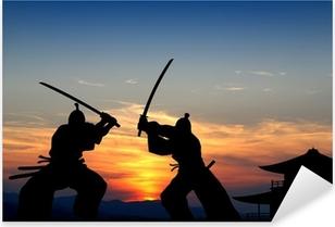 Samurai Pixerstick Sticker