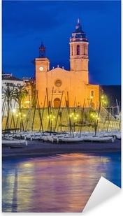 Sant Bartomeu i Santa Tecla church at Sitges, Spain Pixerstick Sticker