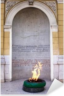 Sarajevo, Bosnia and Herzegovina - Forever fire monument Pixerstick Sticker