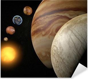 Pixerstick Sticker Satelliet-Europa, maan van Jupiter, ruimte zonnestelsel
