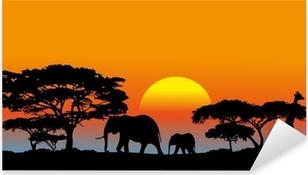 Sticker Pixerstick Savane africaine