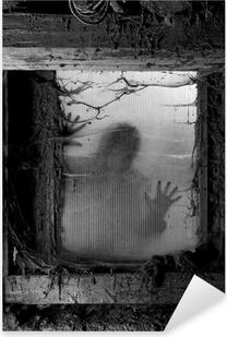 Scary halloween background Pixerstick Sticker