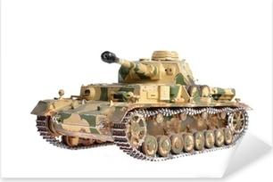 Pixerstick Sticker Schaalmodel van een Duitse tank uit de Tweede Wereldoorlog
