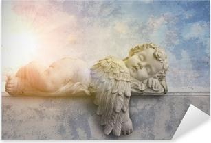 Schlafender Engel im Sonnenschein Pixerstick Sticker