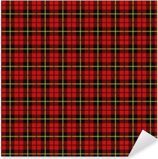 Scottish plaid Pixerstick Sticker