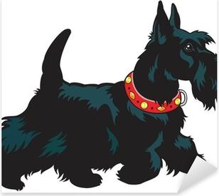 Sticker Pixerstick Scottish terrier