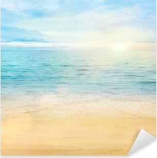Sea and sand background Pixerstick Sticker