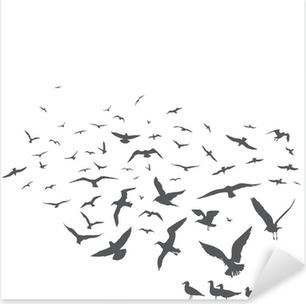 seagulls Pixerstick Sticker